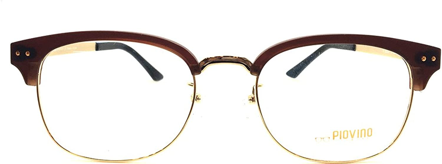 New Piovino Prescription Eyeglasses PV S3000 Brown gold Metal Ultem Frames