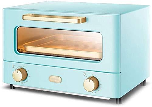 JLGL eléctrica mini horno - azul de calefacción por infrarrojos multifuncional 12L horno doméstico completamente automático, tostadora 33x22x24cm (azul),azul
