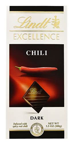 Lindt Excellence Chocolate Bar Dark Chili 2 All stores are sold oz -- pc 3.5 gift -