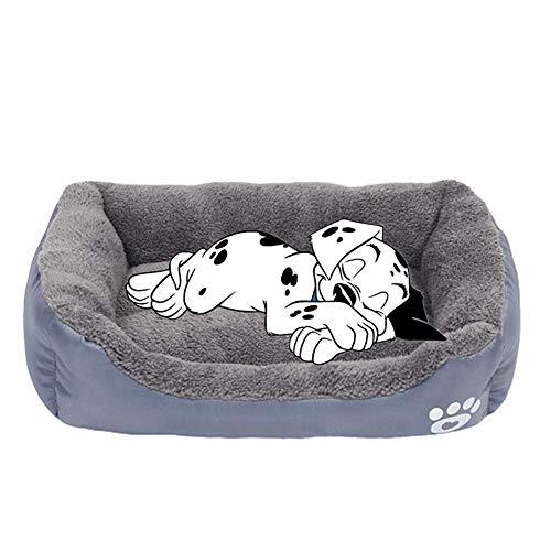 QQW Welpenbett Hund Betten Große Waschbare Plüsch Hundebett Flauschiges Hundebett Luxus Hund Bett Hund Schlafsofa Kätzchen Bett Warme Hund Bett Hund Höhle Bett Haustier Betten Für Hunde Blau, Xxl,Gra