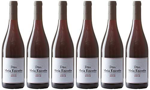 Vin Rouge Dao Meia Encosta Bouteille de 75 cl 4.50 l - Lot de 6