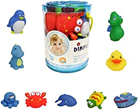 Dimple Set of 20 Floating Bath Toys, Sea Animals Squirter Toys for Boys & Girls, Assorted Sea Animals Friends, Squeeze to Spray! Tons of Fun, Great for Kids & Toddlers