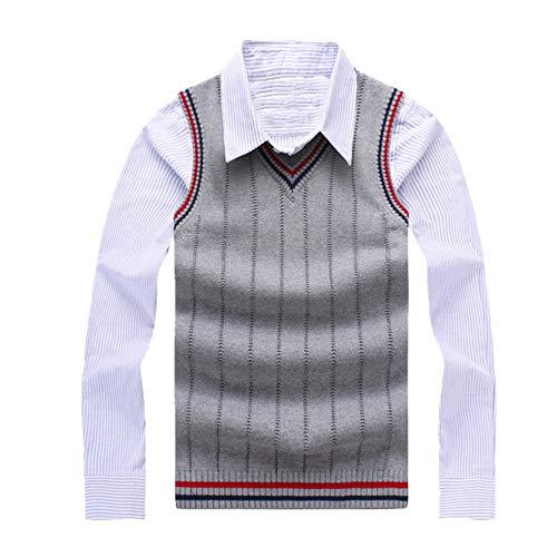 Camiseta sin mangas para hombre con cuello en V de punto jersey de algodón chaleco