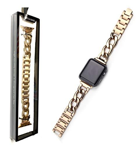 【Royce&Roland】 Apple Watch ステンレス ローズゴールド 時計バンド Series 6 5 4 3 2 1 SE アップルウォッチ 対応 専用ボックス付 38/40/41mm