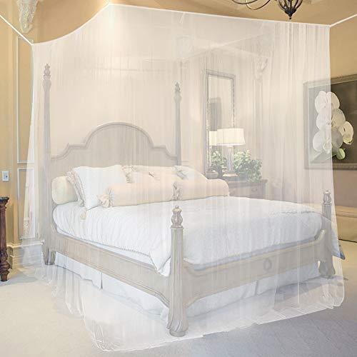opamoo Moskitonetz Bett Groß Moskitonetz Reise Faltbares Mückennetz Bett Tragbares Eckiges Fliegennetz moskitonetz für Doppelbett und Einzel Bett - 200 x 210 x 220cm
