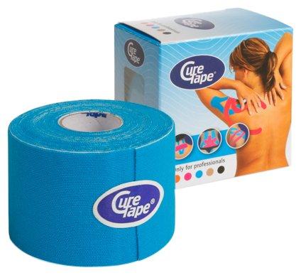 CureTape Kinesiologie Tape für Sport & Medizin blau 5 m x 5 cm, 1 Rolle
