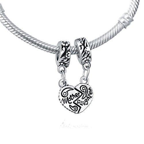 2018 New Bracelets YaHoo Mode Clair Coeur Strass Pendentif Mères Cadeau Collier Femmes Charme Bracelet femmes bracelets (argent)