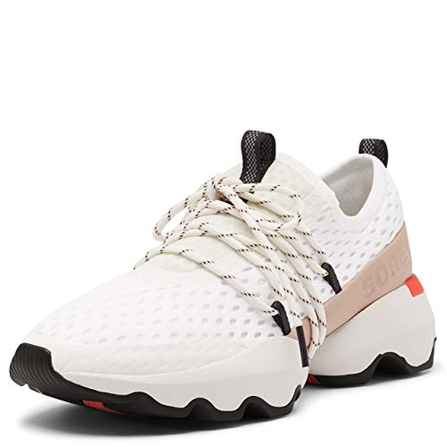 Sorel Women's Kinetic Impact Lace Sneaker - Sea Salt, White - Size 9