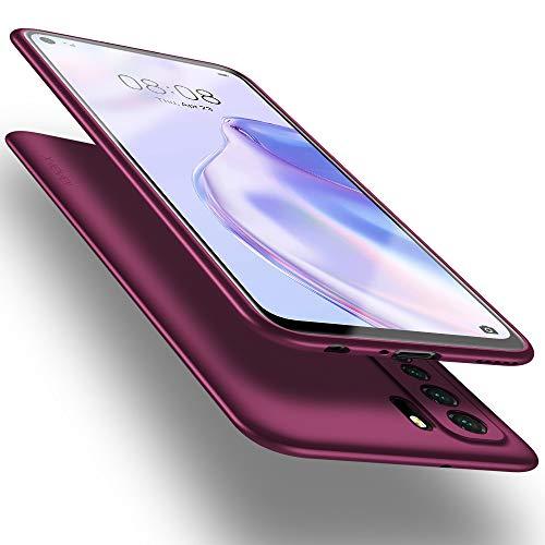 X-level Huawei P40 Lite 5G Hülle, [Guardian Serie] Soft Flex TPU Hülle Superdünn Handyhülle Silikon Bumper Cover Schutz Tasche Schale Schutzhülle für Huawei P40 Lite 5G - Weinrot