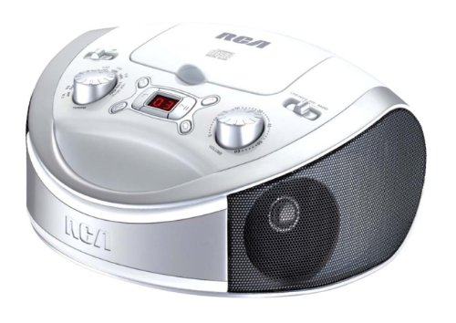 rca boomboxes 2 RCA RCD331WH Portable CD Player with AM/FM Radio - White