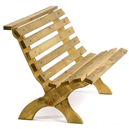 BrackenStyle Lilly Garden Bench - Wooden Garden Bench - Durable Pine Design...