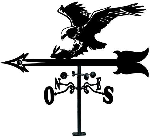 Arthifor Sonnensegel mit Adler-Silhouette, schwarz matt