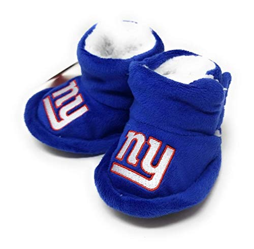 NFL Infant Baby High Boot Slipper Bootie (New York Giants, X-Large (12-24M))