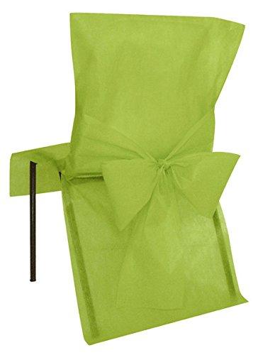 10 Housses de chaise Verte - taille - Taille Unique - 212662