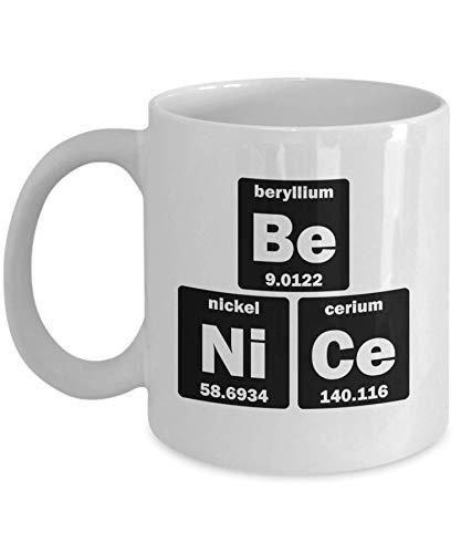 Taza con mesa periódica, profesor de química 11/taza de café (11 oz)