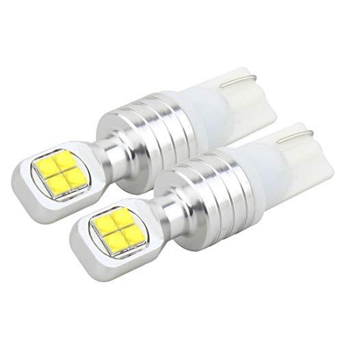 Luz de Luz de Luz de Luz de Luz de Luz de Ligera de 2 PCS con 8 Lámpara, T10 / W5W 40W 800 LM 6000K, DC 12V (luz Azul) MingYuChangHu (Color : White Light)