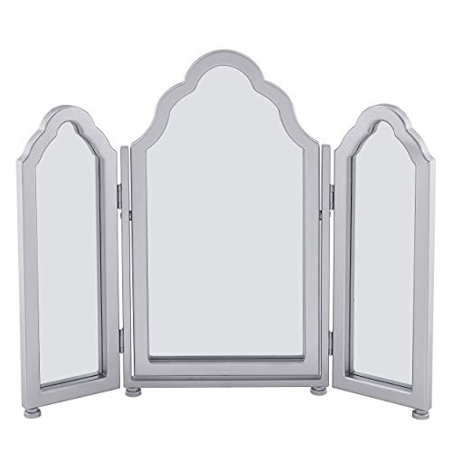 SEI Furniture Archlyn Anywhere Tri-fold Vanity Mirror, Silver
