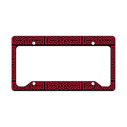CafePress Celtic Knot Red Aluminum License Plate Frame, License Tag Holder