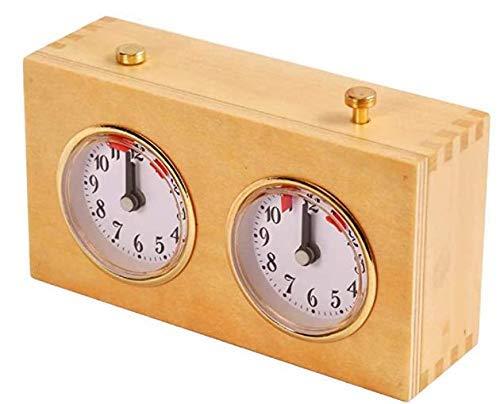 WYFX El Mismo Reloj de ajedrez para el gambito de Queens, Reloj de ajedrez, Reloj de ajedrez mecánico de Madera, Herramientas de sincronización del Juego d
