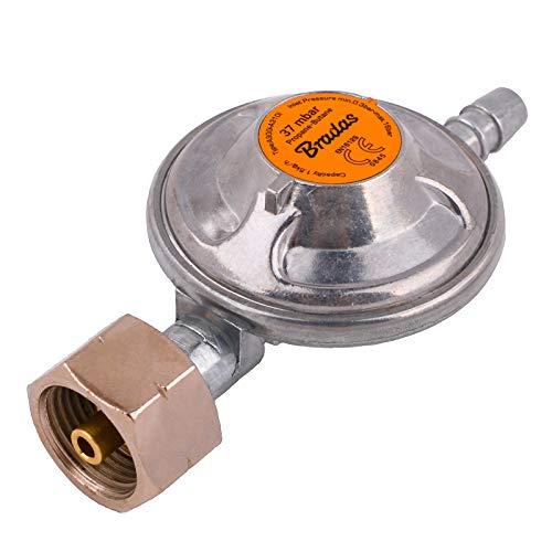 BFG Propane - Regulador de Gas butano de Baja presión (37 mbar, 1,5 kg/h con válvula de Emergencia, Barbacoa, Camping, Caravana, Fontanero)