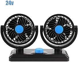 SHYPYG 12V/24V Single Fan Car Interior Accessories Car Cooling Swing Dashboard Ventilation Fan Summer Cooling Air Circulat...