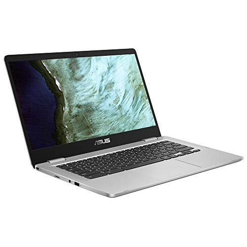 ASUS Chromebook C423NA (90NX01Y1-M02360) 35,5 cm (14 Zoll, Full HD, IPS-Level, NanoEdge, matt) Notebook (Intel Celeron N3350, Intel HD-Graphics 500, 4GB RAM, 64GB eMMC, Chrome OS) Silver