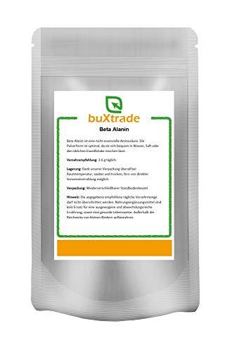 Beta Alanin Pulver | Ausdauer | Carnosin Booster | Kraft | Nahrungsergänzungsmittel | Versch. Mengen (100g / (EUR 2,50 / 100g))