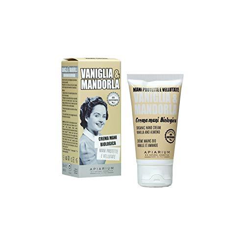 Apiarium - Crema de manos biológica de vainilla y almendra, 50 ml