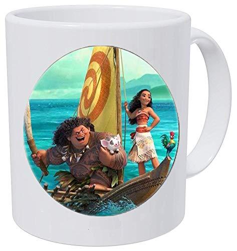 bab Moana Princess - Collar para niños con dibujos animados (1 taza de café)