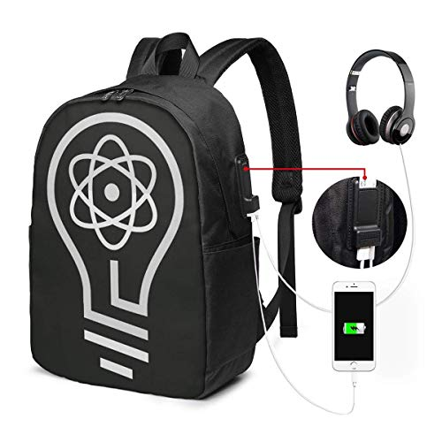 Lawenp 3D Printing Mark Rober 17 Inch Backpack/School Bag with USB Interface