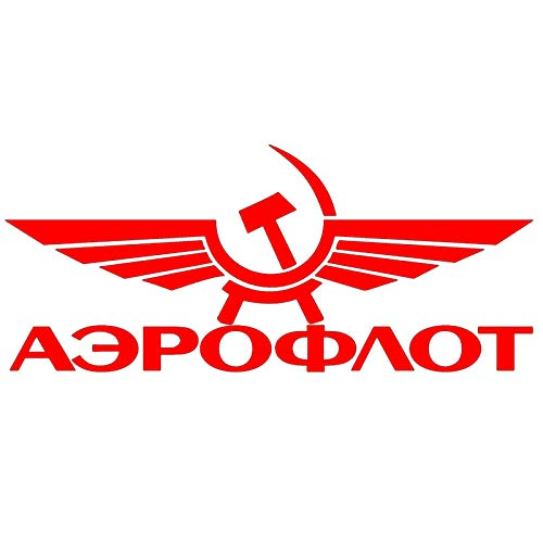 Pegatinas de Coche-Calcomanía Se utiliza para la decoración de la etiqueta engomada del coche de Aeroflot, calcomanía impermeable, maleta para portátil, camión, motocicleta, autopartes, PVC, 16cm