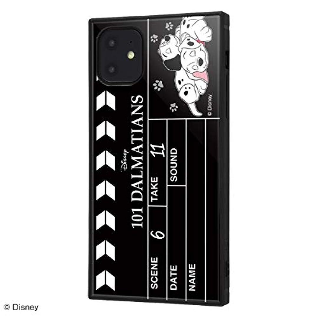 控えめな仕方テクトニックイングレム iPhone 11 ケース, カバー ディズニー 耐衝撃 ストラップ ホール付き ハイブリッドケース KAKU 101匹わんちゃん/Clapperboard IQ-DP21K3TB/DL004