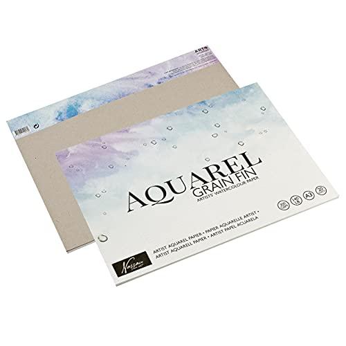 Art Sensations Aquarell Papier DIN A3 Für Künstler | 20 Einzelne Blätter | Stärke: 300 g/m² | Premium Aquarellpapier zum Malen mit Aquarellfarben & Mischtechniken | Qualitätspapier für Perfekte Farben