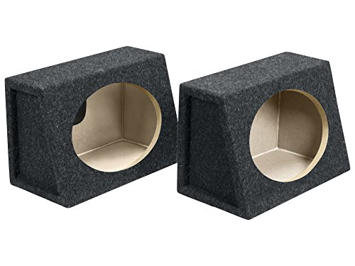 Atrend 6X9PR B Box Series 6 x 9 Inches Pair Speaker Box with Speaker Terminal,Charcoal