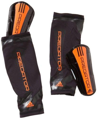 adidas - Espinilleras de fútbol, tamaño XL, Color Negro/Warning