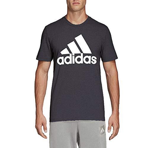 adidas Club 3-Stripes Tennis Tee Shirt (Dark Grey Heather/White, Medium)