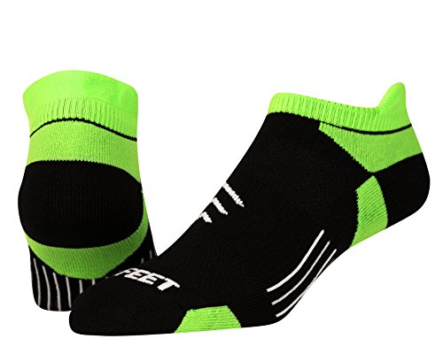 Pro Feet Conversion Low Cut Tab Socken Medium Schwarz/Neongrün