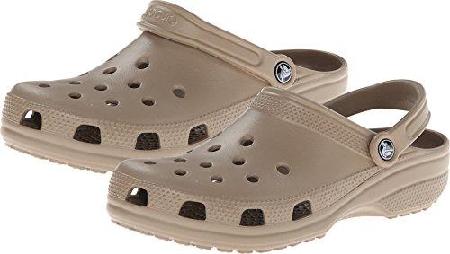 crocs Unisex-Erwachsene Classic Clogs, Braun (Khaki), 46/47 EU