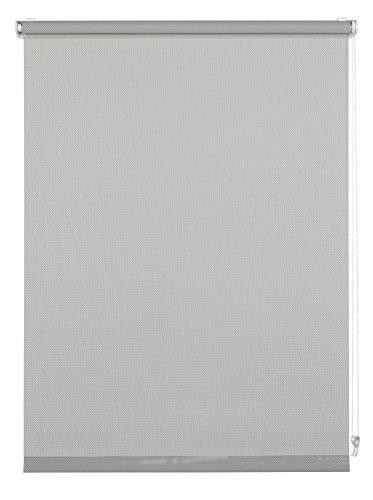 GARDINIA Rollo zum Klemmen oder Kleben, Tageslicht-Rollo, Blickdicht, Alle Montage-Teile inklusive, EASYFIX Rollo Magic Screen, Grau, 75 x 150 cm (BxH)
