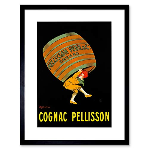 Wee Blue Coo Ad Drink Alcohol Pellisson Cognac Brandy Barrel Frankrijk Omlijst Muur Art Print