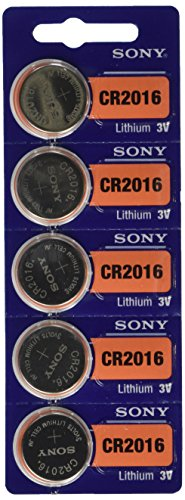 Sony CR2016 3 Volt Lithium Manganese Dioxide Batteries, Genuine Sony Blister Packaging (10 Pieces)
