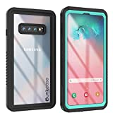 Punkcase S10 Waterproof Case [Extreme Series] [Slim Fit] [IP68 Certified] [Shockproof] [Dirtproof] [Snowproof] Armor Cover Compatible W/Samsung Galaxy S10 [Teal]