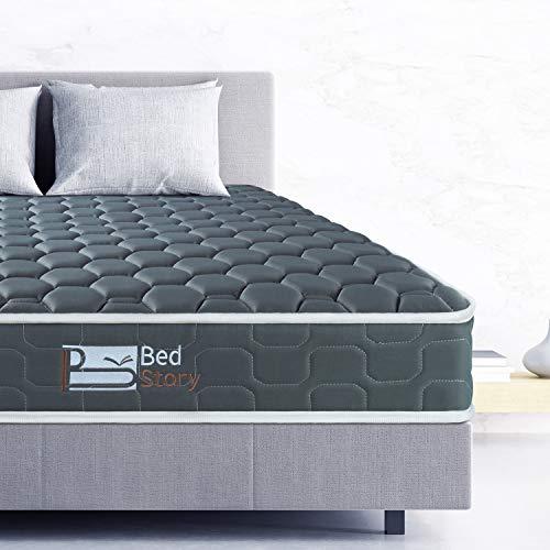BedStory Queen Mattress, 6 Inch Foam Mattress Innerspring Hybrid Queen Bed Mattress Queen Size Bamboo Charcoal Foam Medium to Firm Support Bonnell Spring Rolled Box Mattress (Queen, 60 * 80 Inch)