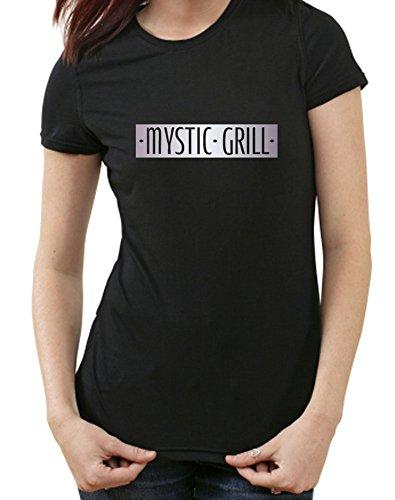 Mystic Grill The Vampire Diaries Fanshirt T-Shirt, TV Serie, Bar, S, Ladies schwarz