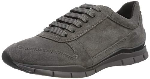 Geox Damen D Sukie C Sneaker, Grau (Dk Grey C9017), 36 EU