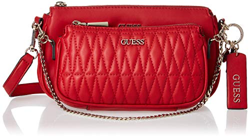 Guess Arie Double Pouch Crossbody Red