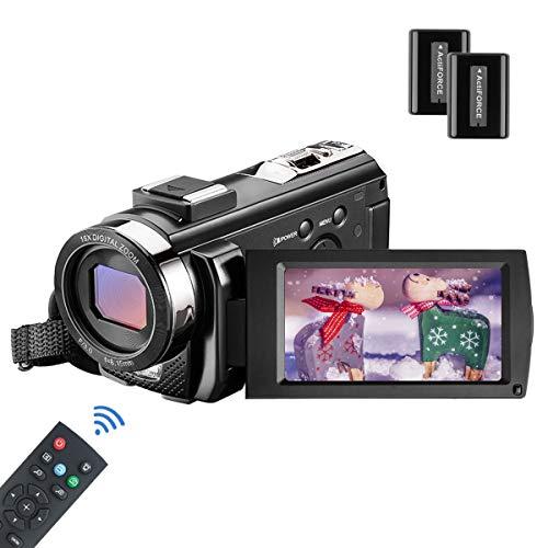 MELCAM Videocámara Youtube Vlogging, Cámara de Video 1080P 30FPS 24MP Pantalla LCD...
