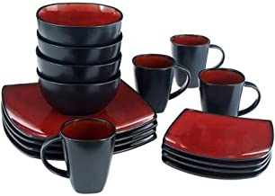 Better Homes and Gardens 16-Piece Dinnerware Set, Tuscan Red, 97885.16RM
