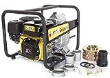 WASPPER Hochleistungs- & Tragbare Benzin Schmutzwasserpumpe mit 45 000 l/h Förderleistung ✦ 25m Wasserhub ✦ 3600 U/min Viertakt-Benzinmotor und enthaltenem Zubehör, von WASPPER (WP30D-P)