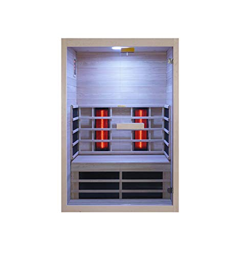 WelaSol® Wärme und Infrarotkabine Venus Vital Sound & Light für 2 Personen 129 x 91 x 190 cm